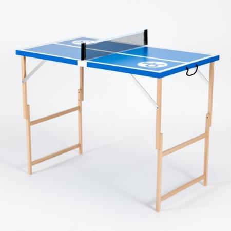"""Blaue Mini Tischtennisplatte """"Dein Blaues Wunder"""" minutenschnell aufgebaut und das moderne Sportgerät für unterwegs."""