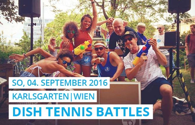 Sommerfest im Karlsgarten mit einem Openair Turnier von DISH TENNIS