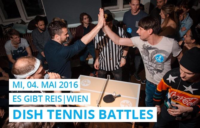 Im Wiener Asian Street Food und Fusion Kitchen Restaurant 'Es gibt Reis' treffen ebenbürtige Tischtennis Spieler aufeinander und haben die DISH TENNIS Fans begeistert.
