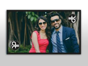 Individualisier Hochzeits DISH TENNIS Tisch mit dem Foto vom Brautpaar das man sich auch an die Wand hängen kann.