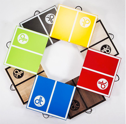 Alle Standard Farben der Mini Tischtennisplatten auf einem Blick DISH TENNIS